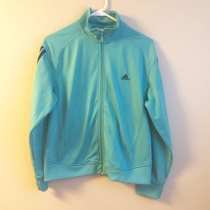 Adidas Teal and Navy Full Zip Track Jacket